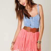 Free People Mesh  Tiers Skirt at Free People Clothing Boutique