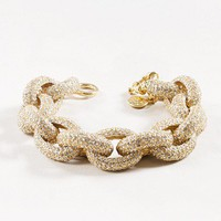 Women&#x27;s jewelry - bracelets - Classic pav link bracelet - J.Crew