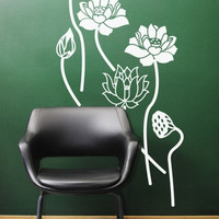 Lotus Calm wall art decal by ArtitudeUandArt on Etsy