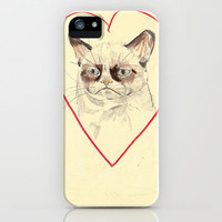 Grumpy Cat Love iPhone Case by Withapencilinhand | Society6