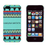 Amazon.com: Hakuna Matata Mint Aztec Pattern Embossed Slim Fit Hard Case for Apple iPhone 5, 5G (AT&T, Verizon, Sprint, International) - Includes DandyCase Keychain Screen Cleaner [Retail Packaging by DandyCase]: Cell Phones & Accessories