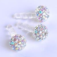 Amazon.com: 1pc 3.5mm Ab Crystal Ball Anti Dust Plug Stopper for Iphone4/4s Cellphone: Cell Phones &amp; Accessories