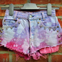 Cryptic Cult — 'Popping candy' dip dye levi's shorts