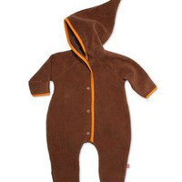 Chocolate Cozie Newborn Elf Onesuit | Zutano: Clothes Unique As Your Baby