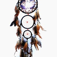 """Dream Catcher -With Feathers- About 27"""" Long- Wolves"""