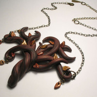 Up &amp; Autumn Tree Necklace - Wearable Art Sculpture