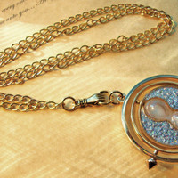 Harry Potter TIME TURNER Necklace with hand and by RazaelsLair