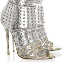 Jimmy Choo | Malika perforated leather sandals | NET-A-PORTER.COM
