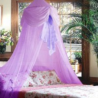 Amazon.com: Purple Chiffon Furbelow Princess Bed Canopy By SID: Home & Kitchen