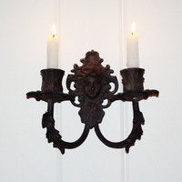 Antique French Bronze Figural Sconce by thepetitemarket on Etsy