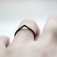 Thorn  oxidized sterling silver ring by andrea0503 on Etsy
