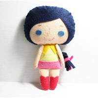 Connie Girl - Doll Pattern, Felt Do.. on Luulla