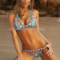 Blue Swimsuit - Wholesale - Top Quality Bikini | UsTrendy