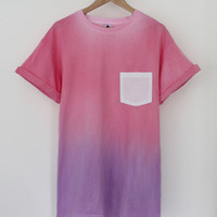 ANDCLOTHING — Pink Purple Sherbet Dip Dye Tee  <em>SOLD OUT</em>
