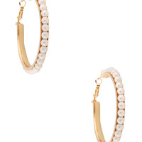 Pearlescent Hoop Earrings | FOREVER21 - 1086806036
