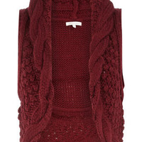 Burgundy knitted gilet - Dorothy Perkins United States