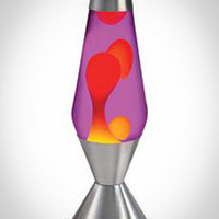 Lava Lamp with Purple Lava, Yellow Liquid, and Silver Base in Home & Dorm Sale