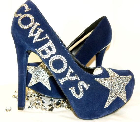Dallas Cowboys Rhinestone Heels From Shimmerandbling On Etsy