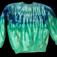 Tie-dye crewneck sweatshirt:  long sleeved adult S