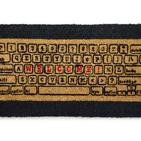 COMPUTER KEYBOARD DOORMAT | Coir, Carpet, Mat, Durable, Natural, Gifts for Geeks, Tech, Computer | UncommonGoods