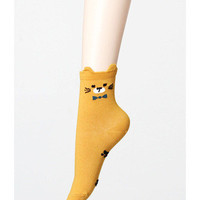 Bowtie Cat Socks Black
