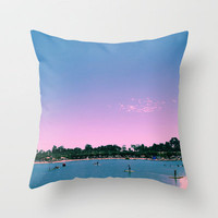 Beach Livin Throw Pillow by Aja Maile | Society6