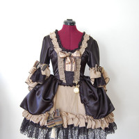 Gothic Steampunk lolita mini Marie Antoinette anime Victorian inspired dress