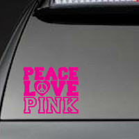 Victoria&#x27;s Secret, &quot;Peace, Love, Pink&quot; - Car, Laptop, Cell Phone Decal - Free Shipping