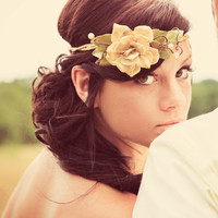 vine crown natural wedding woodland bride bridal by whichgoose