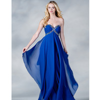 2013 Prom Dresses -Royal Sweetheart Strapless Chiffon Prom Gown - Unique Vintage - Cocktail, Pinup, Holiday & Prom Dresses.