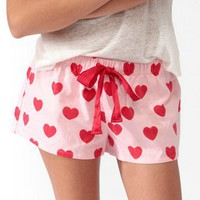 Heart PJ Shorts | FOREVER 21 - 2030187166