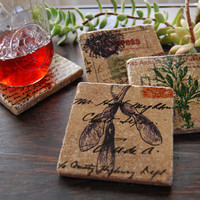 Vintage Botanicals Coaster Set on Luulla