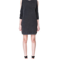 DRESS WITH CUT-OUT SHOULDERS - Dresses - TRF - New collection - ZARA United States
