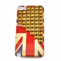 iPod touch 5 hand Case Cover with bronze pyramoid stud for appleipod touch 5 hard Case, ipod touch 5 case  s09