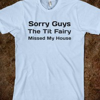 The Tit Fairy-Unisex Light Blue T-Shirt