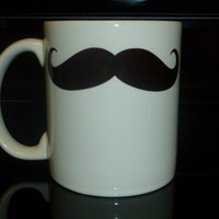 Coffee Mug  Mustache Custom Personalized Coffee by CreateItYourWay