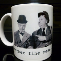 Coffee Mug Laruel & Hardy Comedy Funny by CreateItYourWay on Etsy