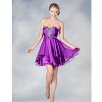 2013 Prom Dresses - Light Purple Chiffon Sweetheart Short Prom Dress - Unique Vintage - Cocktail, Pinup, Holiday & Prom Dresses.