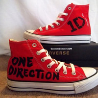 One Direction HiTop Converse by CustomConverseUK on Etsy