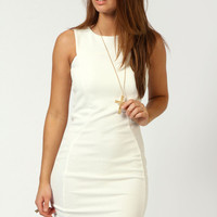 Darcey Textured Panel Bodycon Dress