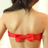 $39.00 The Red Bow TOP by MimiHammer on Etsy