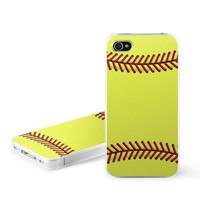 Amazon.com: Softball Design Snap on Hard Case Faceplate Cover for Apple iPhone 4 / 4S 16GB 32GB 64GB: Cell Phones & Accessories