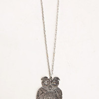Guess Whooo Owl Necklace - $8.50 : ThreadSence.com, Your Spot For Indie Clothing & Indie Urban Culture