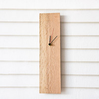 Modern Wall Clock Salvaged Wood Wooden Clock ELIAN
