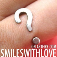 Adjustable Question Mark Punctuation Adjustable Ring in Silver from Dotoly Love