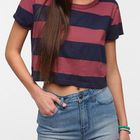 Truly Madly Deeply Bold Stripe Cropped Tee