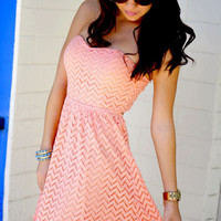 Sweet As A Peach Dress: Peach | Hope's