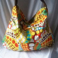Hobo Funky Polka Dots Hobo bag Brown Suede strap  READY by ACAmour