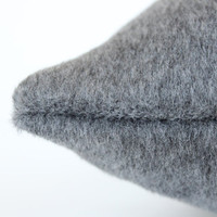 Schumacher Mohair PIllow Cover in Smokey grey