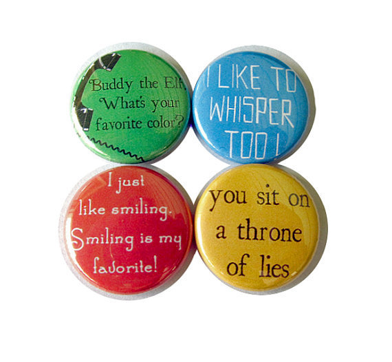 Buddy the Elf Pinback Button Set